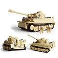 995 unids Siglo KAZI Bloques de Construcción Del Tanque King Tiger Alemán Militar Enlighten Bloques de Juguetes de la Educación juguete de regalo de Navidad Q035