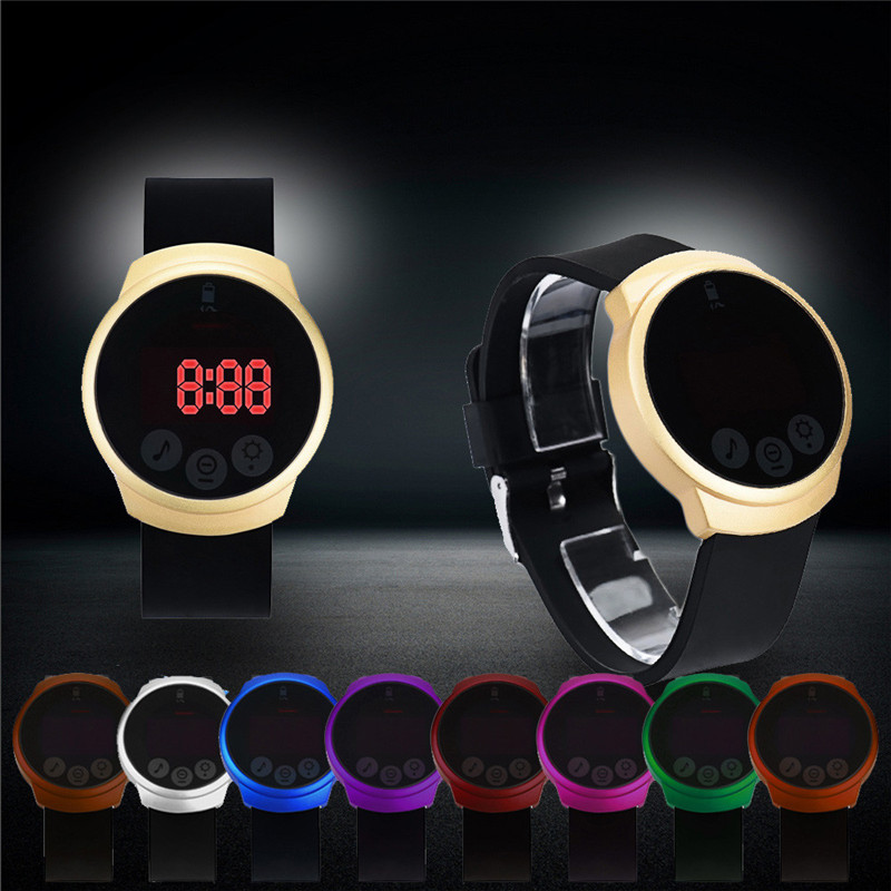 Top Brand Luxury New Fashion Waterproof Men LED Touch Screen Day Date Silicone Wrist Watch Clock