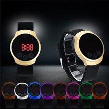 Top Marque De Luxe Nouvelle Mode Étanche Hommes LED Tactile Écran Jour Date Silicone Montre-Bracelet Horloge Reloj A1