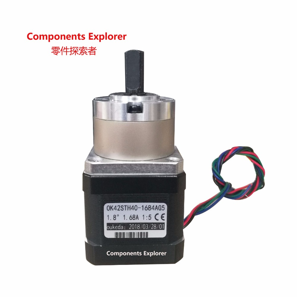 Nema17 Planetary Stepping Motor peed Reducer Body 40 High Torque Reduction Ratio 1:5.18 42STH40-1684AG5 wlxy wl 1301 high peed steel drills set 13 pcs page 1