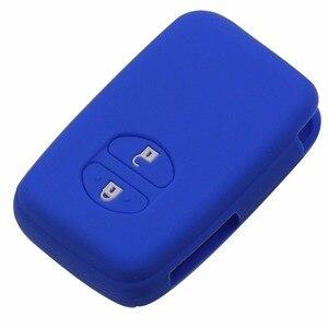 Image 2 - Jingyuqin מרחוק סיליקון מפתח Fob מקרה כיסוי מעטפת מחזיק עבור טויוטה RAV4 לנד קרוזר קאמרי הנצח פראדו פריוס 2 כפתורים