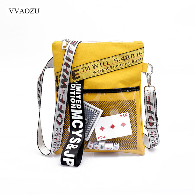 Ladies Cool Poker Cards Sling Bag Handbag Summer Canvas Messenger Bags for Women Fashion Shoulder Bag