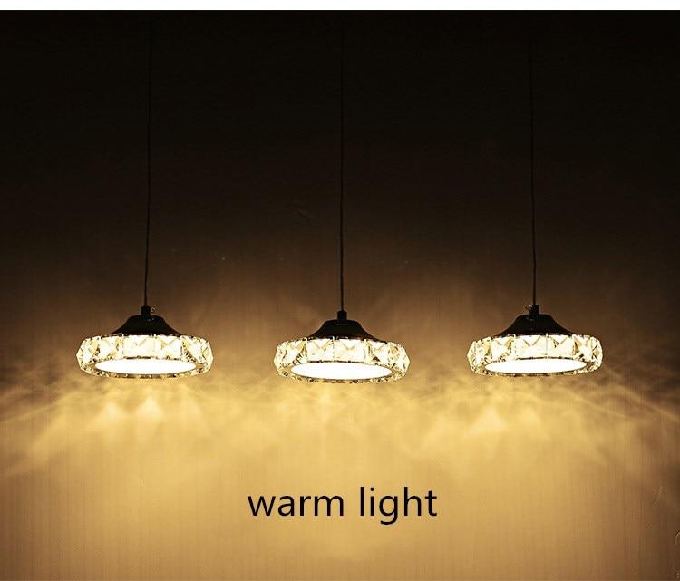de cristal AC110-260 luminária de cristal led luz pingente de diâmetro