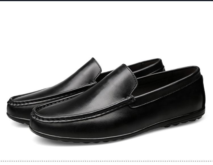 ba2ac093a471 SocNoDn Hommes de Chaussures En Cuir 2018 Printemps Été Casual Chaussures  Hommes Mode Loisirs Mocassins Appartements Chaussures Mocassins Bateau  chaussures