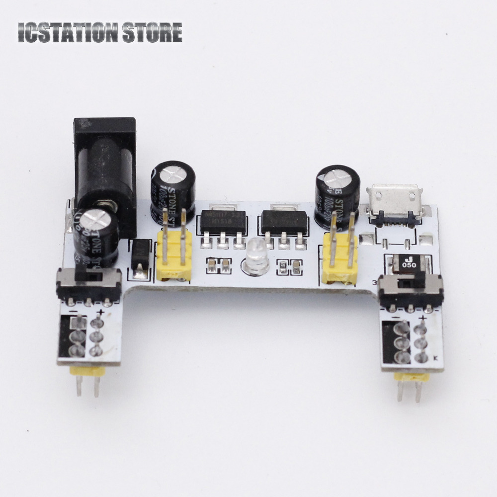 MB102 MB-102 White Breadboard Power Supply Module Regulator DC 5V 3.3V Micro USB Interface For Arduino Solderless multifunctional dc voltage regulator stabilizer cable wire power supply interface cable line mobile phone repair tools usb