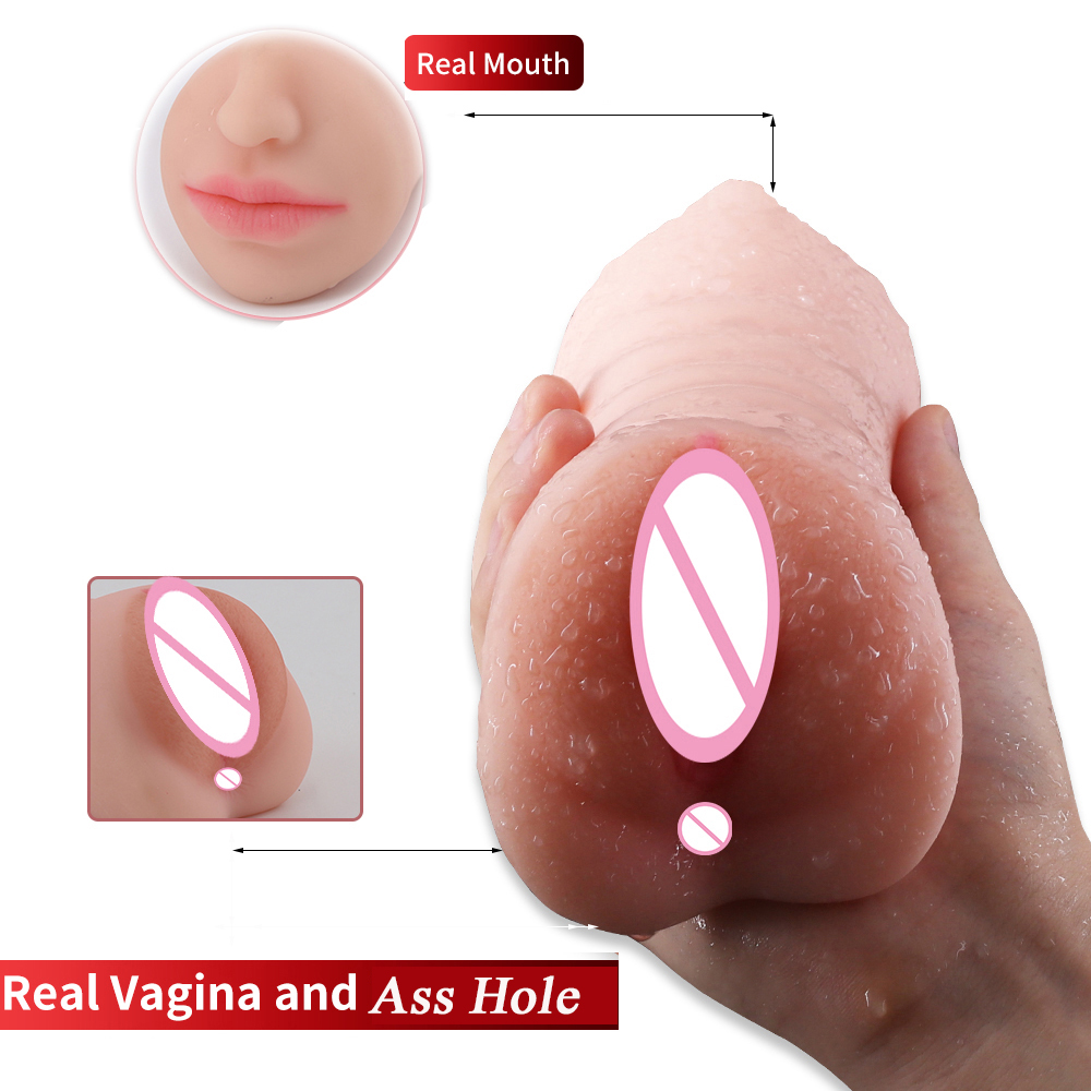 Male Masturbator Cup Real Oral 3D Vagina Artificial Ass Pussy Pocket With Tongue Teeth G Spot Sex Machine Adult Sex Toys For Men real feel maiden artificial vagina skin real pocket pussy male masturbation cup sex products adult sex toys for men