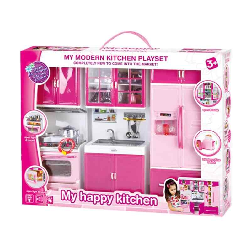 New Pretend Play 3 In 1 Simulation Kitchen Set Cooking Cabinet Tool Tableware Dolls Suits Toys Puzzle Educational Doll For Girls Furniture Toys Aliexpress