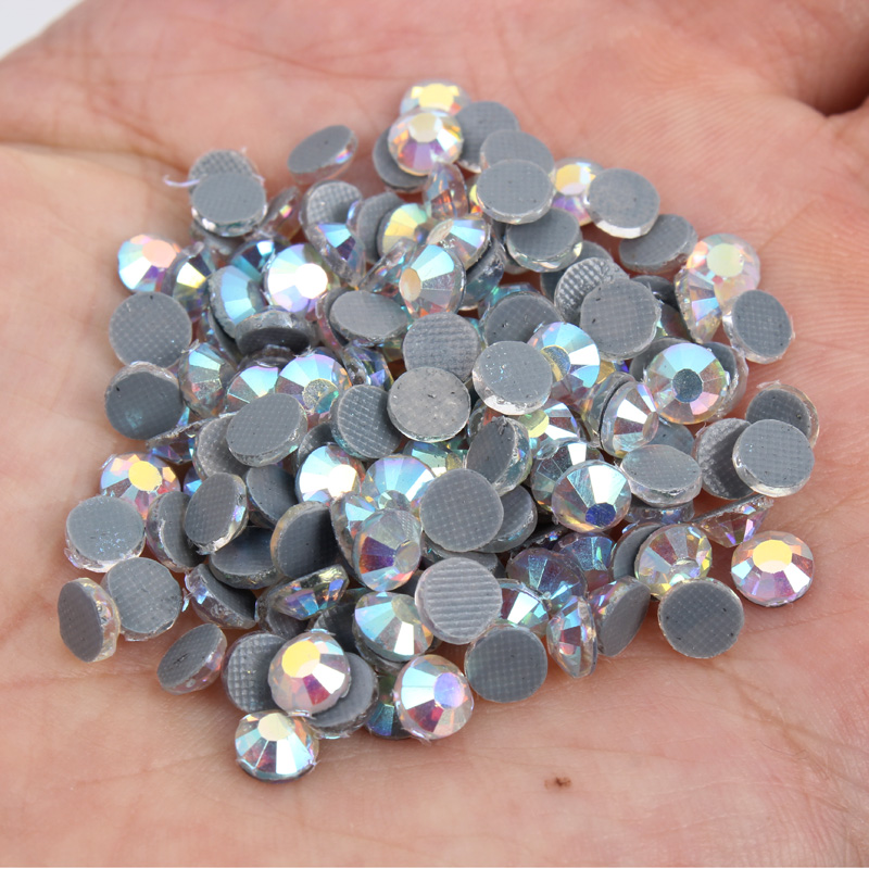 Factory Price Bulk Packing 500 Gross SS10 Glass Material Crystal AB gray glue bottom DMC Hotfix Rhinestones