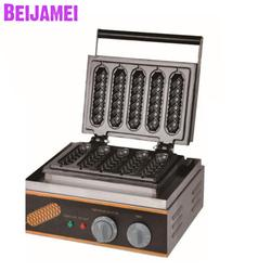 BEIJAMEI 110v 220v electric 5 waffle stick maker machine commercial lolly waffle making machine price