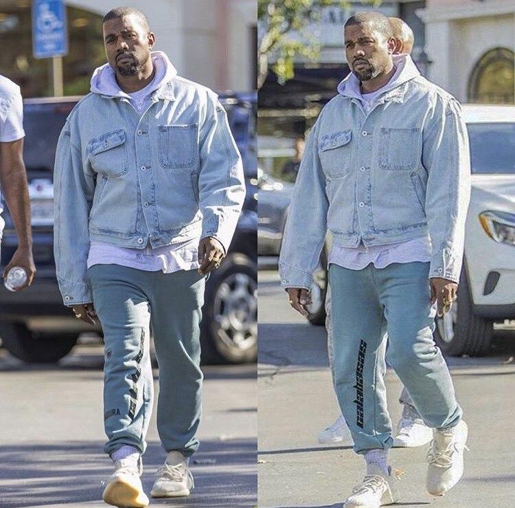 19SS Calabasas Season 5 Sweatpants Men Embroidery Logo High Street Hip Hop  Kanye West Joggers Sweatpants Season 5 Pants