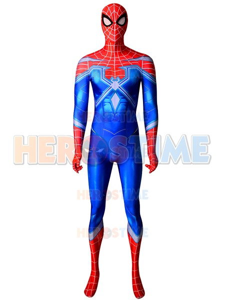 NEW PS4 Spiderman Costume The Heist DLC Resilient Cosplay Zentai suit Superhero Game Catsuit For Adult/Kids/Custom Made