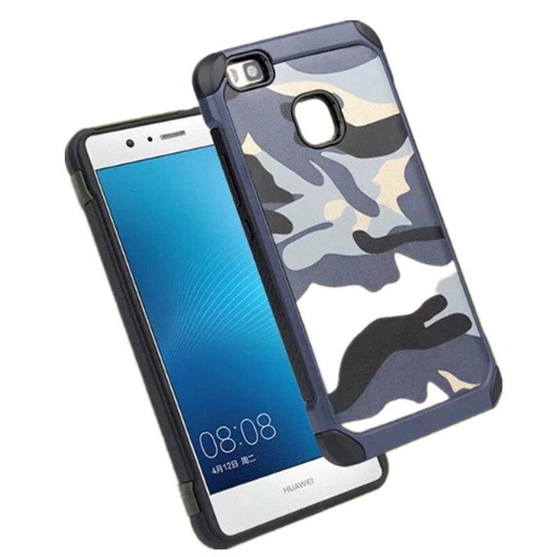 Caso para Huawei P9 Lite 2 IN1 ejército CAMO camuflaje patrón PC + ...