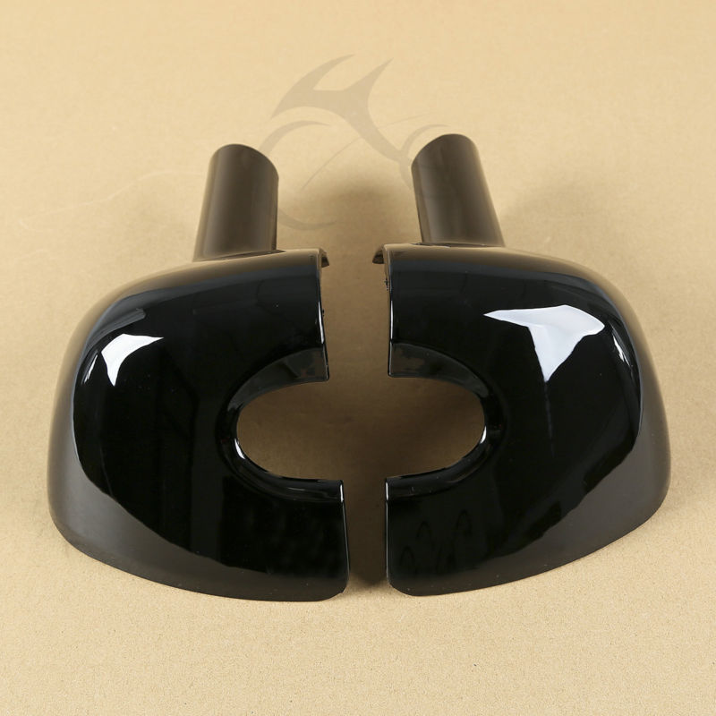 Left and Right Lower Vented Leg Fairing Caps For Harley 1983-2013 Touring Electra Street Glide Road King FLT FLHT FLHRC touring saddlebag hardware for harley touring model 1993 2013 hard bags flt flht flhtcu flhrc road king road glide etc