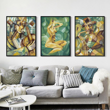 Minimalist Abstract Painted Figure Portrait Oil Painting A4 A3 A2 Canvas Art Poster Print Picture Wall Office Bedroom Home Decor
