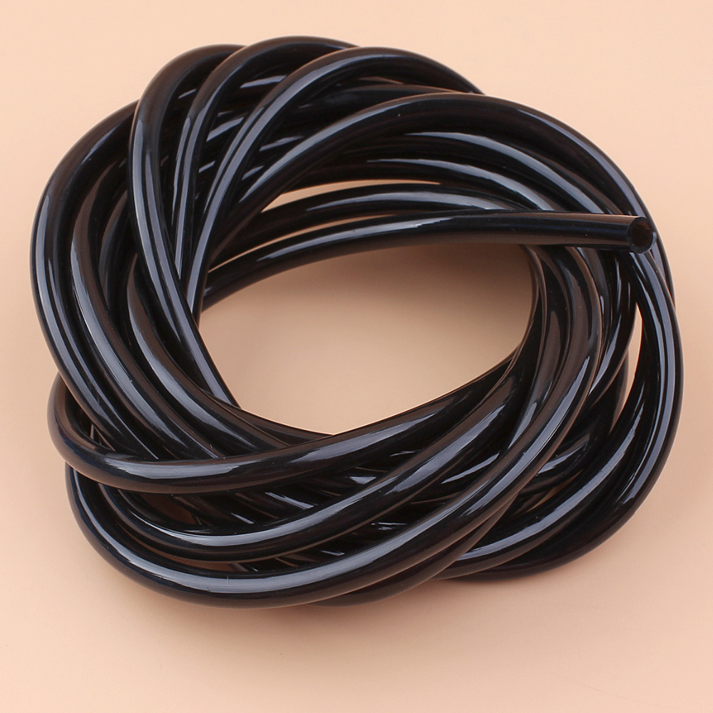 5M Black Gas Fuel Line Hose For Husqvarna Stihl Echo Poulan Craftsman Briggs Stratton Trimmer Brushcutter Weedeater Chainsaws