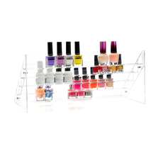 Fashion Clear Acrylic 5 Tiers Nail Polish Rack Cosmetics Display Shelf Makeup Organizer Lipstick C60