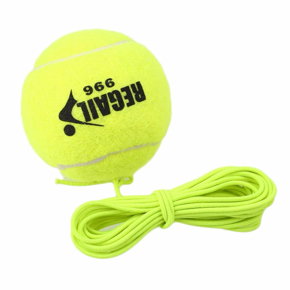 REGAIL New Single Package Tennis Ball With String Drill Tennis Trainer Replacement Rubber Woolen Training Training Balls Sport