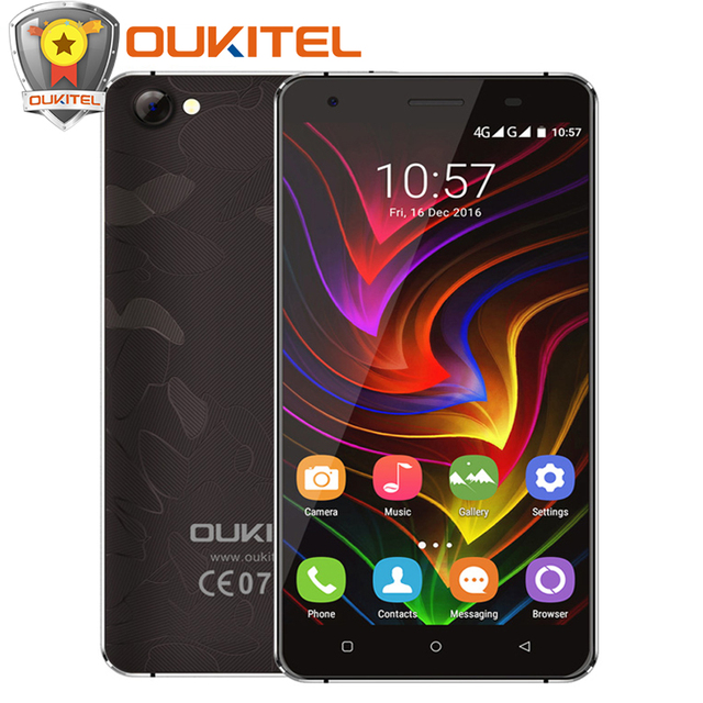"Official Oukitel C5 Pro Mobile Phone Android 6.0 4G LTE MTK6737 Quad Core 5"" HD 2GB+16GB 8MP Smartphone Anti-smash Screen"