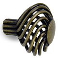 JFBL Wholesale 8 x Spiral Cage Kitchen Cabinet Handles Knobs 34mm--Antique brass