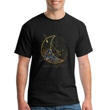 Cool Tshirt Designs Moon Mountain Men T Shirts O Neck Fashion Geek Tee Cheap Sale Man Short Sleeve T Shirts