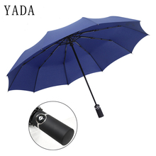 YADA 10K Design Luxury Big Windproof Folding Rainy Automatic Umbrella For Women Men Anti-UV Auto Female Parasol YD059