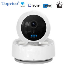 Topvico Alarm WIFI IP Camera Wireless PTZ Pan Tilt 1.0MP IR LED 720p P2P Plug Play Cam Video Surveillance Home Security Camera