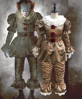 HOT!Stephen King's It Pennywise Cosplay Costume Adult Unisex Women Clown costume suit Custom made fancy Halloween Terror costume