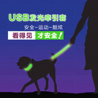Hot Sale Retractable Dog Leashes Lead With Led Light For Dog Pet Waterproof Nylon Material Traction