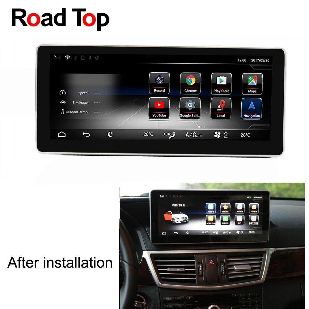 Android 7.1 Octa 8-Core CPU 2 + 32g Auto Radio Unità di Testa di Navigazione GPS Bluetooth WiFi Dello Schermo per Mercedes Benz E-Class Coupe C207