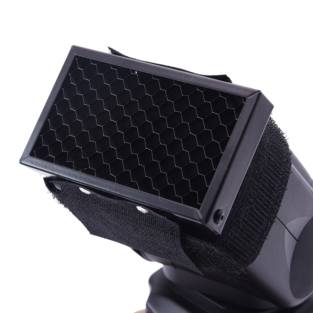 Honeycomb Grid Spot Flash Diffuser Softbox For Canon 580EX II 430EX for nikon SB900 SB600 for