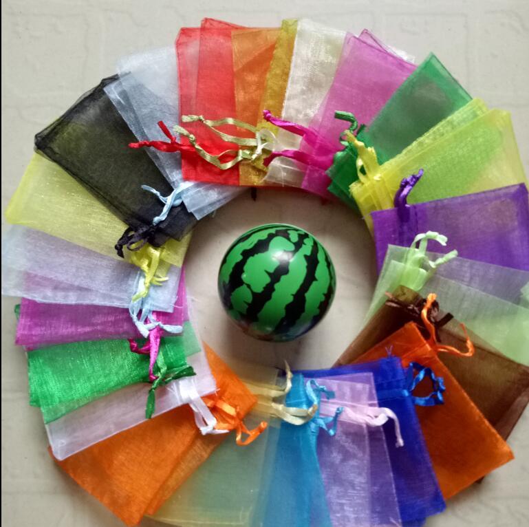100Pcs Mini Organza Gift Bags Jewelry Drawstring Bags Wedding Party Favor Decor