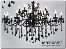 24 Arms Large Crystal Chandelier Lights Top Luxury Black iluminacion industrial Indoor Lighting Lustre Drop Lamp Free Shipping