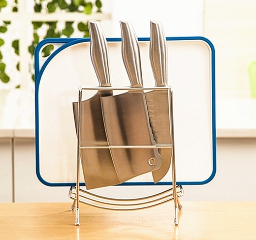 Hot Sale Simple Chopping Board Knife Holder Stainless Steel Knife Racks Kitchen Accessories Free Shipping