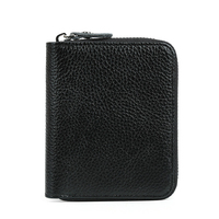Fashion Men Short Zipper Wallet 100 Genuine Leather Head Layer Cowhide Luxury Contracted Decorous Male Convenient