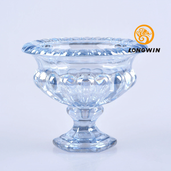 Longwin 2 Colors Footed Glass Trumpet Vase 433h Beautiful Home