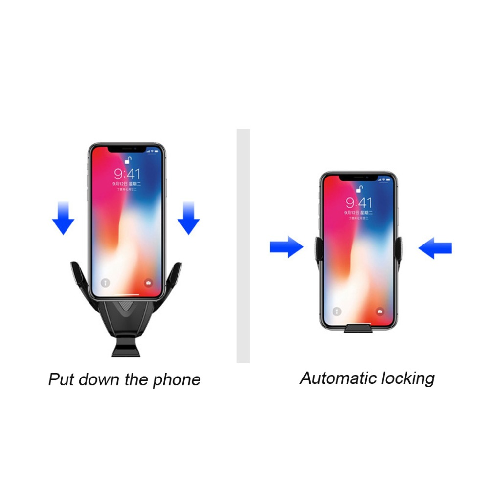 Image 3 - HIV Car Qi Fast Wireless Charger Air Vent + CD Mount Automatic Clamping Car Holder Stand for iPhone XR XS Max X 8 10W Fast C MAR-in Mobile Phone Chargers from Cellphones & Telecommunications