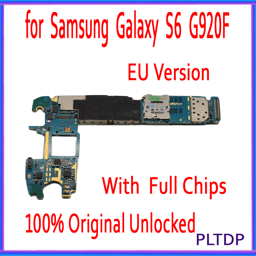 with Full unlocked for <font><b>Samsung</b></font> <font><b>Galaxy</b></font> <font><b>S6</b></font> G920F Motherboard with Chips,32gb Original for <font><b>Galaxy</b></font> <font><b>S6</b></font> G920F Logic <font><b>board</b></font> EU Version image