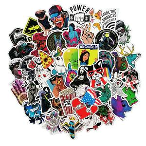 paoshen 50 pcs/pack Stickers For laptop Skateboard sticker