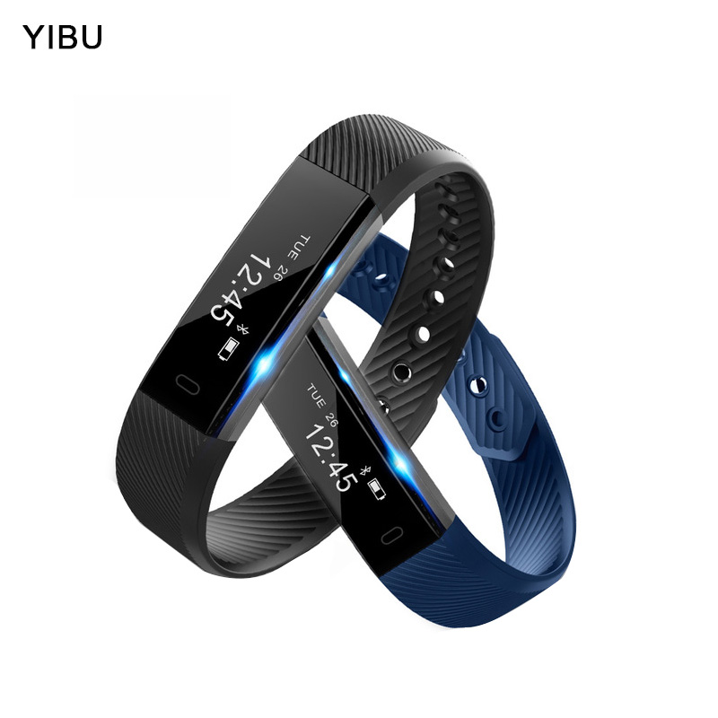 YIBU Smart Bracelet Bluetooth sport wristband Fitness Tracker Passometer sleep Monitor smart Band for iphone Android