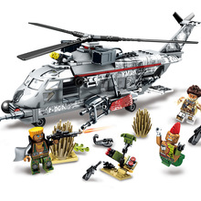 340pcs Apache Attack Helicopter Building Blocks Sets Compatible Legoingls Army Military Soldiers Bricks Toys For Boys