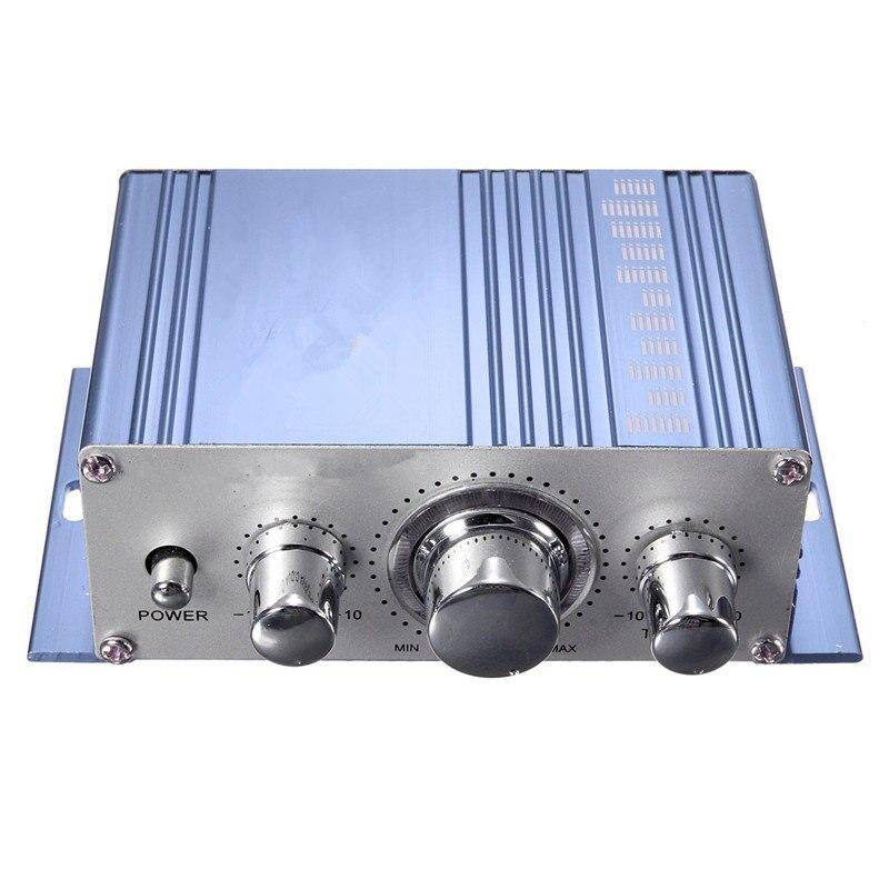 12 V Venta caliente Mini Hi-Fi Stereo amplificador de Audio MP3 Auto 2 Cananal estéreo DVD altavoz Azul Rojo amarillo