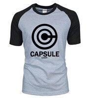 Anime DRAGON BALL Z Men T Shirt 2016 New Summer 100 Cotton CAPSULE CORP Raglan Men