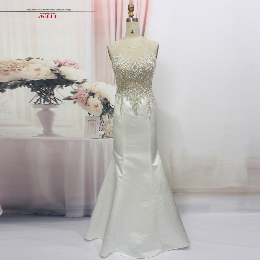 robe de soiree 2018 new lace pearl sexy mermaid white black real picture turkish evening ...