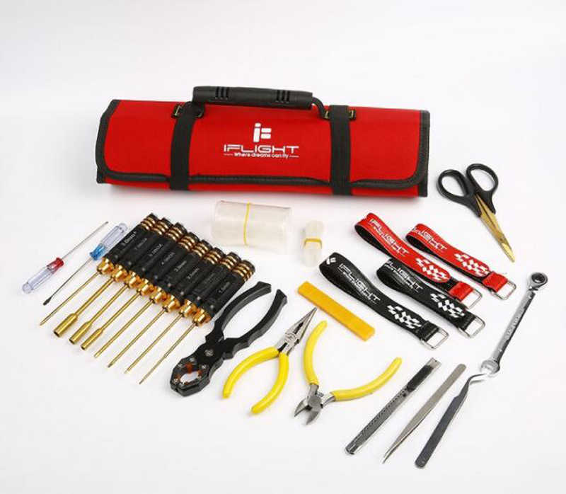 RC Car/Airplane/Boat Model Repair RC Tools Kits Hexagonal/Cross Screwdrivers+Socket+Plier+Tweezer+Wrench+Storage Handbag Traxxas