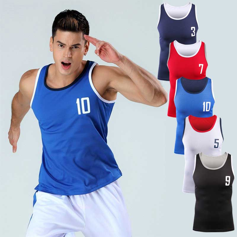 2017 Men Pro Quick Dry Workout Gymming   Tank     Top   Tee Sporting Runs Yogaing Compress Fitness Exercise shirts Clothing MA54