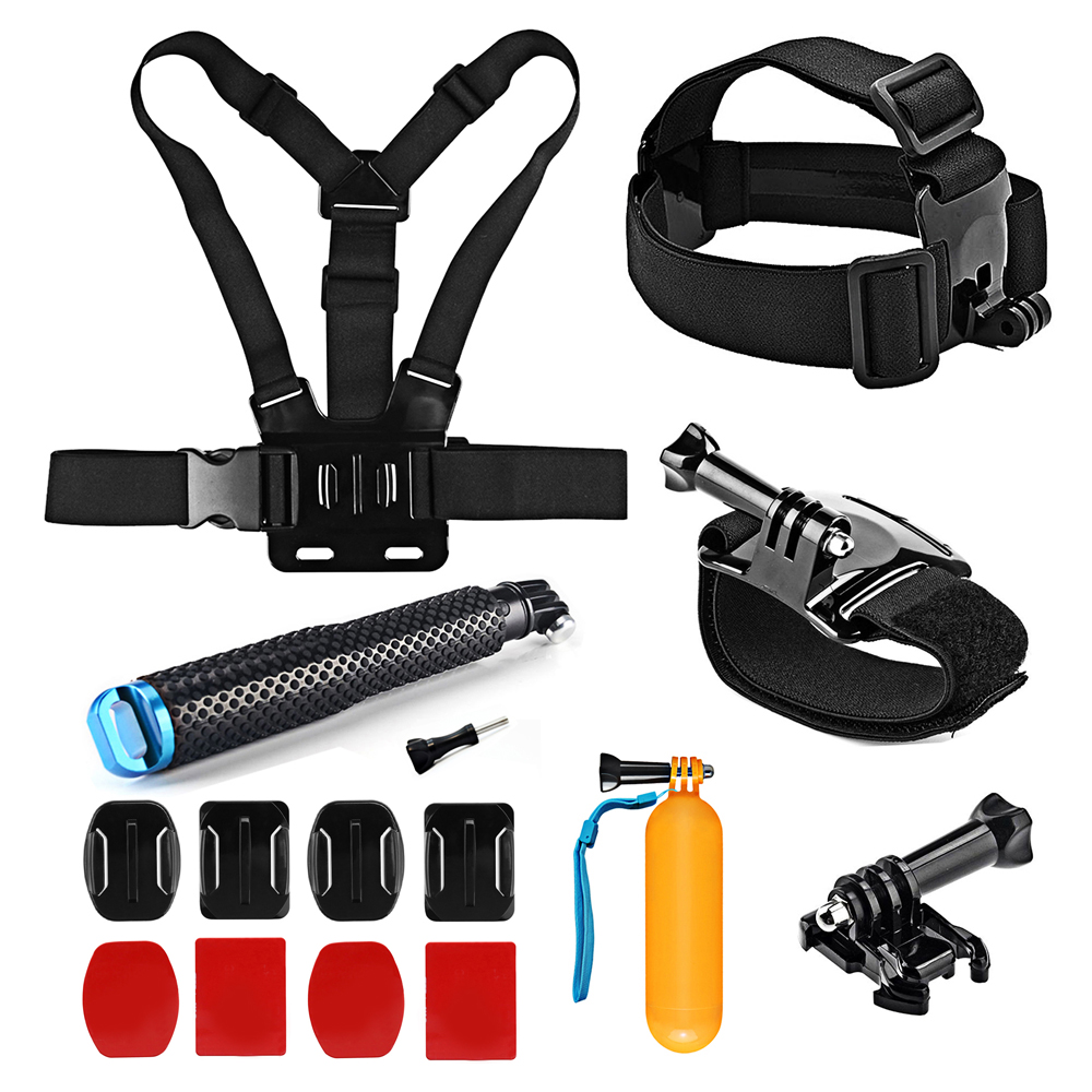 SHOOT Action Camera Accessories Set for GoPro Hero 6 5 7 Black 4 Black Xiaomi Yi 4k Sjcam Sj4000 Sj7 Eken H9r Go Pro Mount Strap accessories set for gopro hero 6 straps mount for go pro 5 3 4 session tripods for xiaomi yi 4k sjcam sj4000 eken h9 action cam