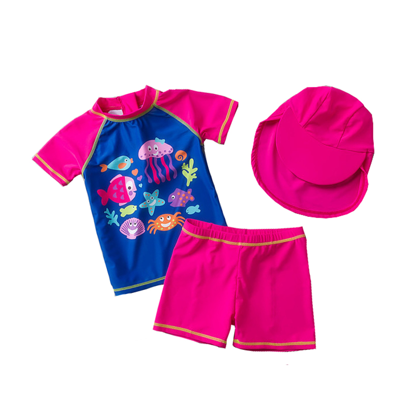 Mioigee 2018 Baby Girls Swimwear 3pieces Summer Baby Swim Toddler Bathing Suit Girl Swimwear Princess Beach Infant Swimming Suit