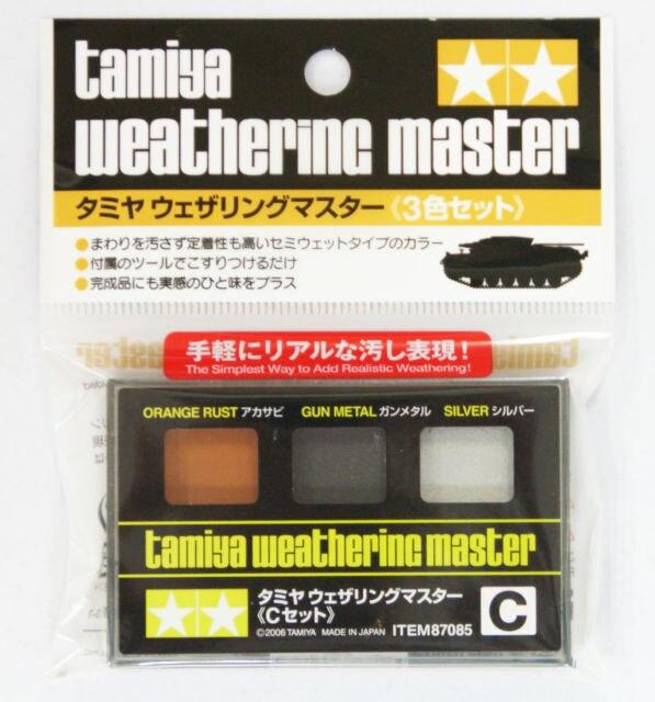 87085 Tamiya Weathering Pastel Rust//Gun metal//silver
