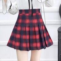 8ba2f02142 High Waist Casual Plaid Pleated Skirt Women S Skirts Casual Ladies Kawaii Ulzzang  Female Korean Vintage