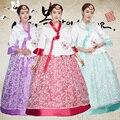 3 цветов Вышивка корейский традиционный наряд ханбок корейский национальный костюм азии одежда корейские костюмы свадебное платье косплей